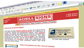 Achill Signs web site, created by Digital Acla